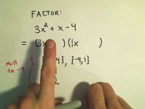 Factoring Trinomials (A quadratic Trinomial) by Trial and Error