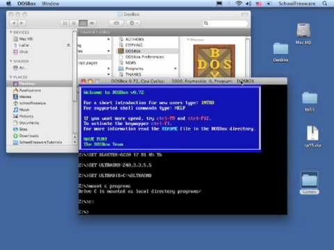 Running DOS Programs on Mac With DOSBox (Macintosh OS X)