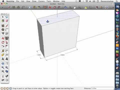 Sketch-Up Basics 2: How to extrude a face