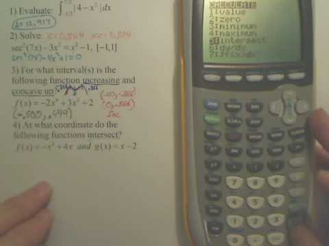 Points of Intersections on a Calculator
