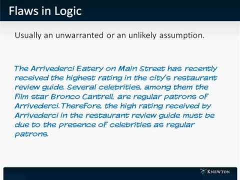 GMAT Prep - Verbal - Critical Reasoning - Flaws in Logic by Knewton