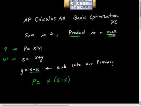 AP Calculus AB Optimization Problem Basic pt I