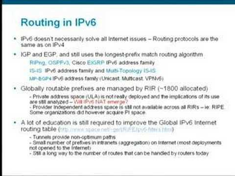 Google IPv6 Conference 2008: Planning for the IPv6 Integration