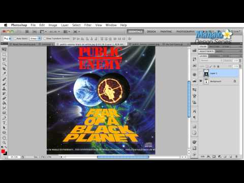 Photoshop Tutorial - Logo Case Study - Public Enemy