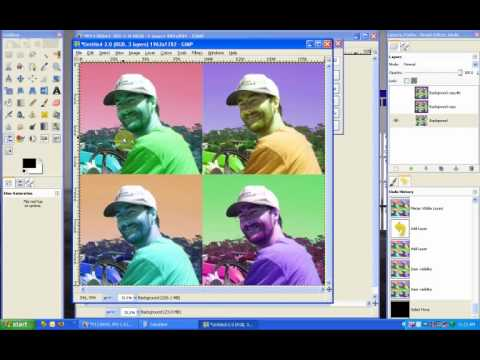 Gimp Tutorial - Andy Warhol (Pop Art)