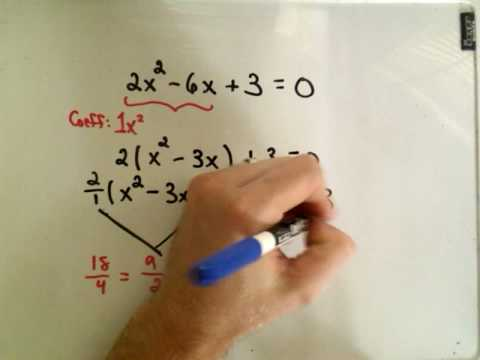 Completing the Square Example 2 Solve Quad. Equations