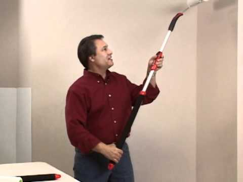 Shur-Line's Paint Roller Extension Pole Demonstration