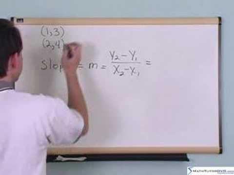 Algebra 2 Tutor - Sample 1 - The Slope Of A Line