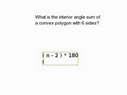 Find the Interior Angle Sum of a Polygon