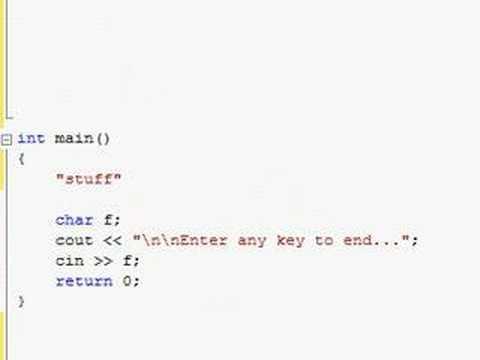 C++ Tutorial (wrap 3 @ video 40) - Absolute n00b spoonfeed