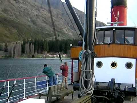 On the Earnslaw boat on Lake Wakatipu, Queenstown, New Zealand