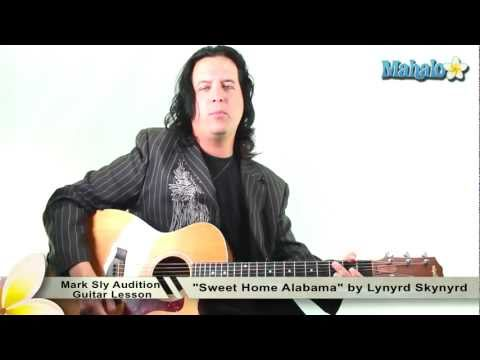 "Audition for Mark Sly Playing ""Sweet Home Alabama"" by Lynyrd Skynyrd on Guitar"