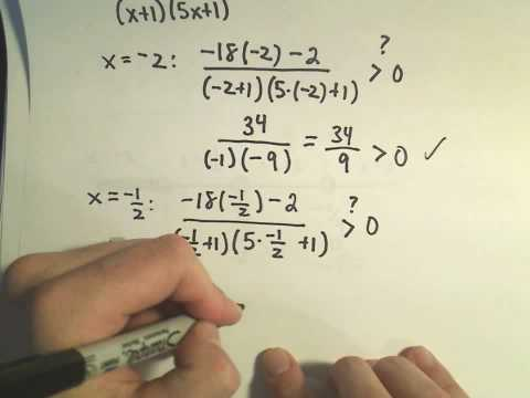 Solving a Rational Inequality, More Examples - Example 3