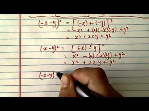 Binomial Expansion: (-x-y)^2=???