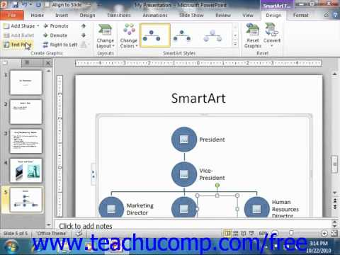 PowerPoint 2010 Tutorial Formatting SmartArt Microsoft Training Lesson 6.2
