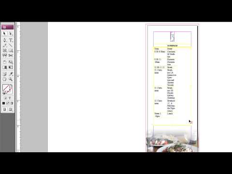 Adobe InDesign cs3  DESIGNING WITH TABS & TABLES  Creating, Selecting & Navigating Tables
