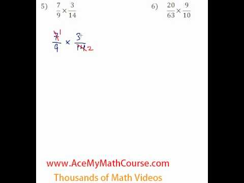 Basic Algebra Review - Fraction Multiplication & Division #5-6