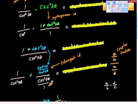 Verifying Trigonometric Identities part II