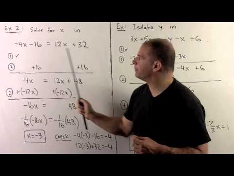 BCA2.0.  Review:  Manipulating Equalities