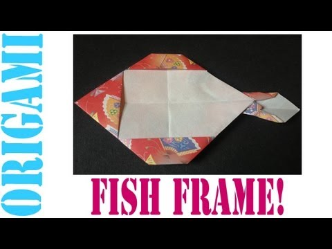 Origami Daily - 206: Easy Picture Frame Fish - TCGames [HD]
