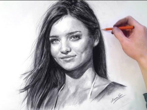 MIRANDA KERR in Charcoal - Speed Drawing
