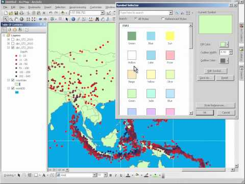 Esri GIS in School Instruction Demo #5 - ArcScene (quakes)