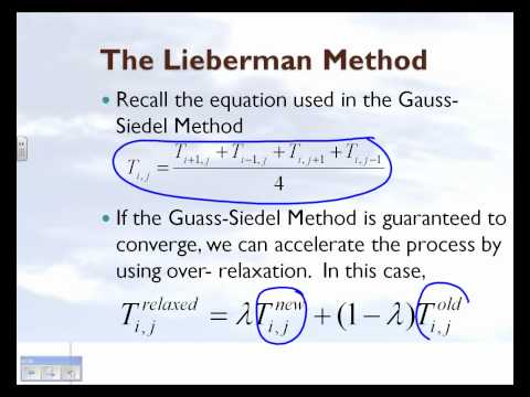 Elliptic PDEs: Lieberman Method: Part 1 of 2