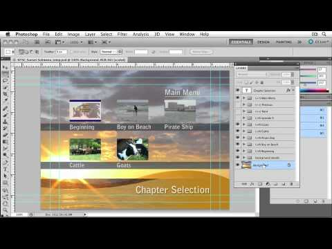 Adobe Encore CS5 CUSTOMIZING MENUS  Customizing a Menu in Photoshop