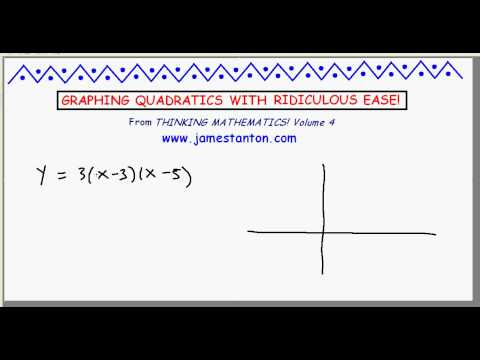 Graphing Quadratics made Ridiculously Easy (Mathematics: James Tanton)
