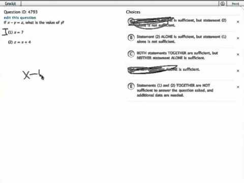 Grockit GMAT Quantitative - Data Sufficiency: Question 4793