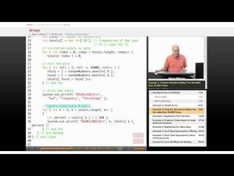 Java: Arrays (Rolling Two Dice)