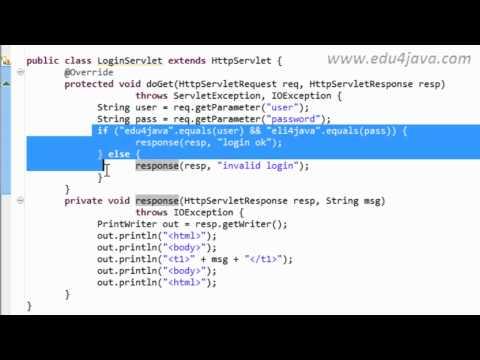 Java Web 3 Parámetros, método GET y POST en Servlets. Video tutorial.