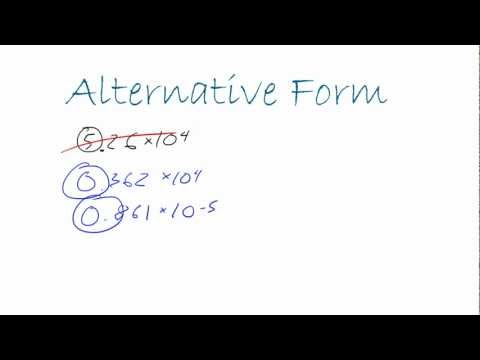 Introduction to Physics - Lesson 2 - Different Versions of Scientific Notation