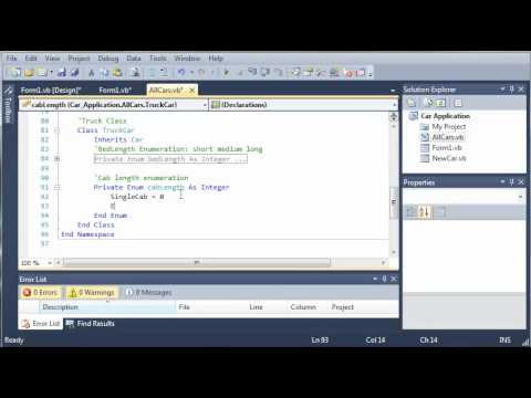 Visual Basic Tutorial - 114 - Car Part 9   Creating The Truck Class