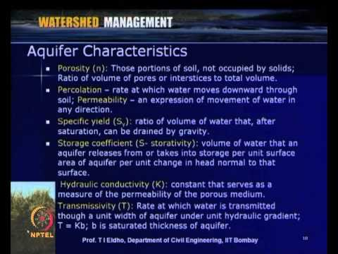 Mod-04 Lec-18 Subsurface & Groundwater Flows