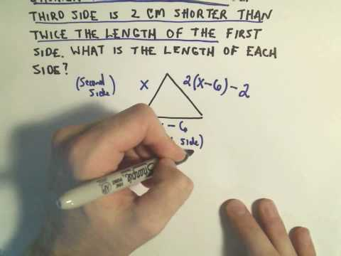 Word Problem Involving Perimeter of a Triangle - ex 2