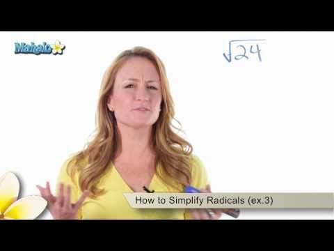 How to Simplify Radicals (ex.3)