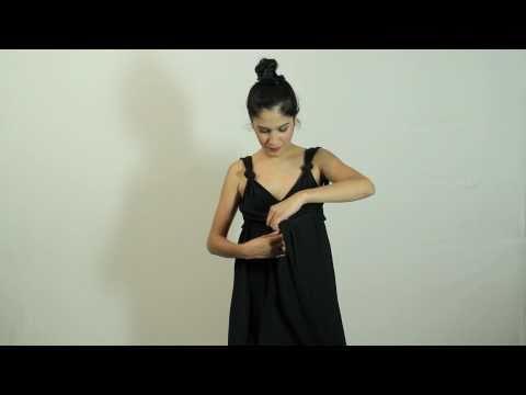 How to do an unique multi-wrap dress