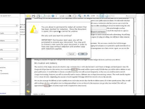 Advanced Adobe Acrobat 8Archiving & Searching Using Redaction