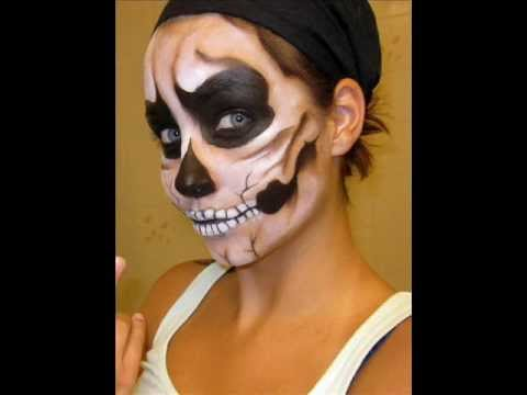 Halloween Series 2011: Skull Face Makeup Tutorial