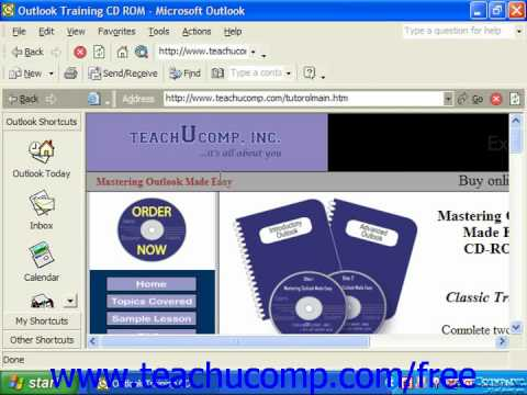 Outlook 2003 Tutorial Using Outlook as a Web Browser XP & 2000 Microsoft Training Lesson 14.3