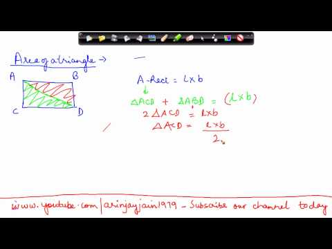 1402. Mathematics Class VII - Area of a Triangle.mp4