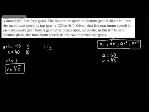 (5) C2 Geometric Sequences (word based question)