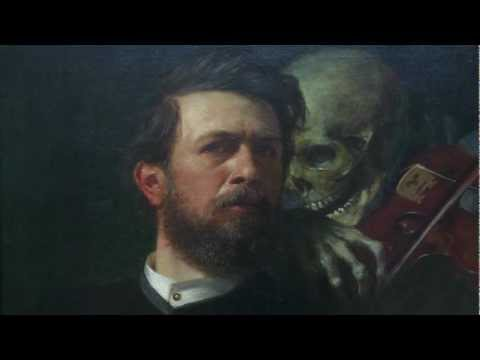 Arnold Böcklin, Self-Portrait with Death Playing the Fiddle, 1872