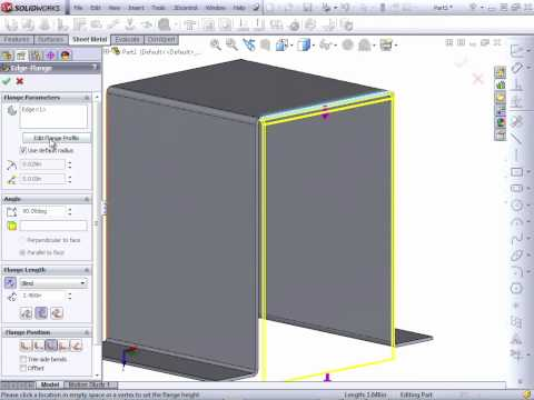 Solidworks 2012 Tutorial | Intro to Sheet Metal