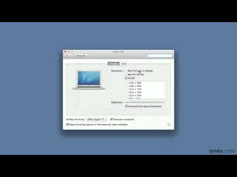 Mac OS X Mountain Lion tutorial: AirPlay mirroring | lynda.com