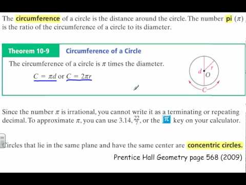 How to Find the Circumference of Concentric Circles