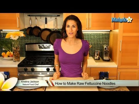 How to Make Raw Fettuccine Noodles