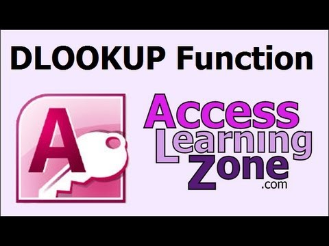 Microsoft Access DLOOKUP Function
