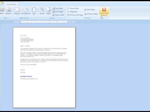Word 2007: Printing